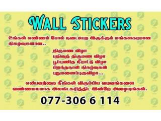 Wall Stickers decorations for wedding and birthdayparties