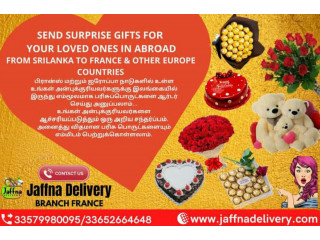 You can order and send gifts from Sri Lanka or Europe to your loved ones