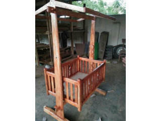 Wooden baby cradle for sale in jaffna