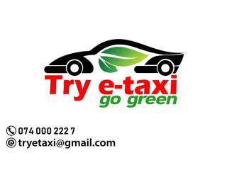 Try e-Taxi - Low payment car taxi service